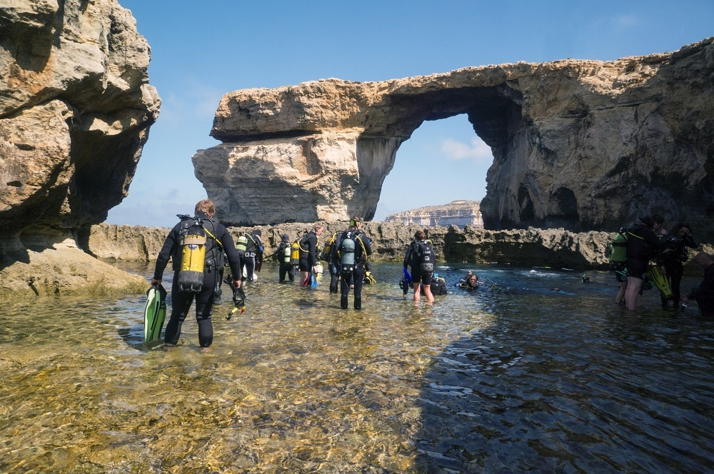 Malta weather diving